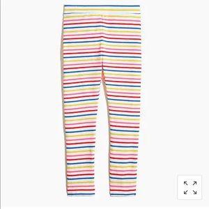 NWT J. Crew Girls' Multicolor-Stripe Leggings, 12